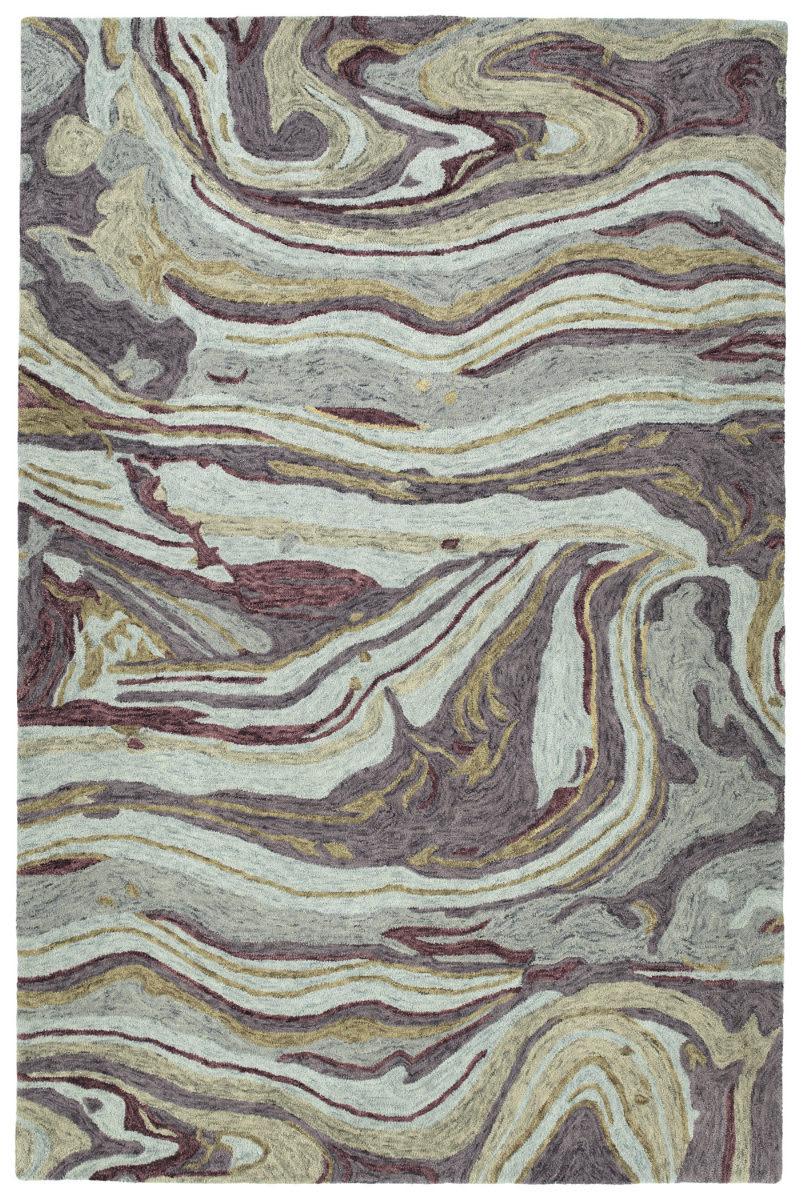 Kaleen Marble Mbl03-65 Aubergine | Rug