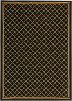 Karastan English Manor Coventry Trellis Black 2120-530 Area Rug