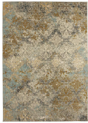Karastan Touchstone Moy Willow Grey Area Rug