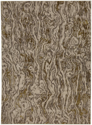 Karastan Enigma Alluvium Brushed Gold Area Rug