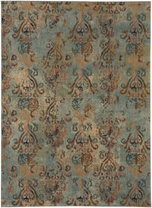 Karastan Intrigue Wile Aquamarine Area Rug