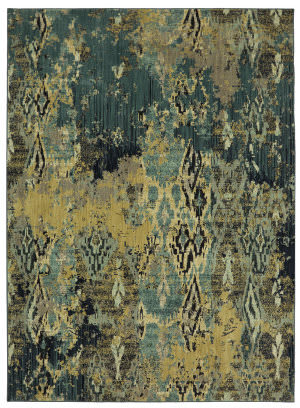 Karastan Elements Captivate Pale Green Area Rug