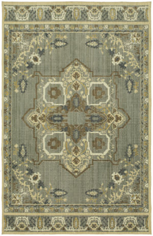Karastan Vintage Tapis Left Bank Gray Area Rug