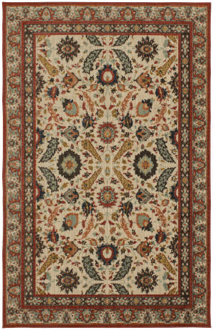Karastan Vintage Tapis In Full Bloom Garnet Area Rug