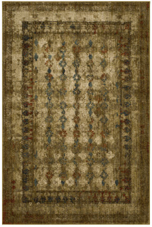 Karastan Spice Market Faded Arabesque Gold Area Rug