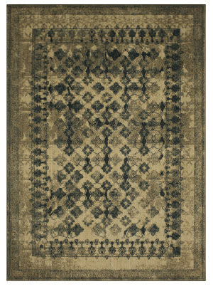 Karastan Spice Market Faded Arabesque Cream Area Rug
