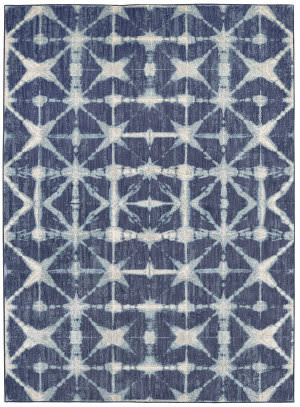 Karastan Expressions Triangle Accordion Indigo Area Rug