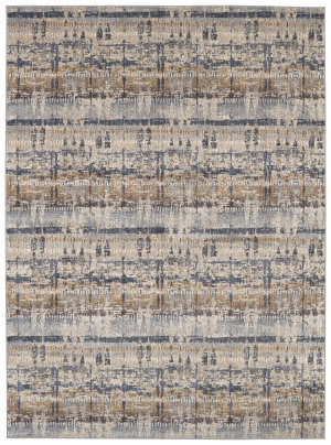 Karastan Expressions Kaleidoscopic Denim Area Rug