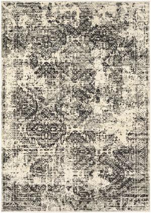 Karastan Tempest Compass Natural Cotton - Willow Grey Area Rug