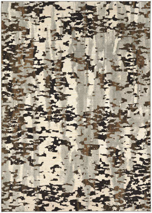 Karastan Tempest Vortex Natural Cotton - Willow Grey Area Rug