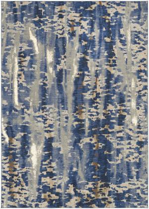 Karastan Tempest Vortex Periwinkle - Willow Grey Area Rug