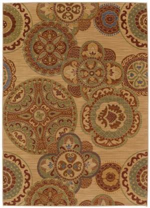 Karastan English Manor Chesterfield Beige Area Rug