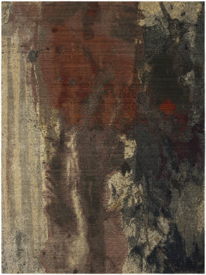 Karastan Decollage Abstract Multi Area Rug
