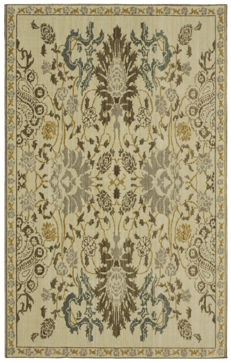 karastan vintage tapis paris garden taupe area rug 180871 - Tapis Paris