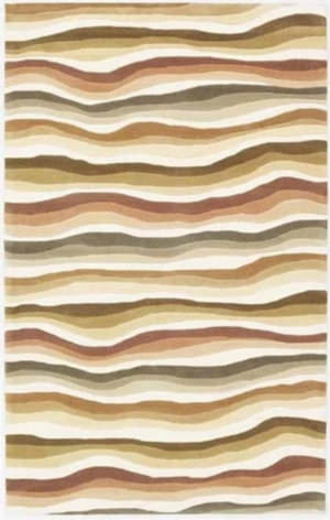 KAS Cosmopolitan Waves 1501 Earthtones Area Rug