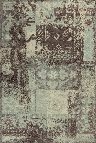 Kas Allure 4053 Blue / Mocha Area Rug