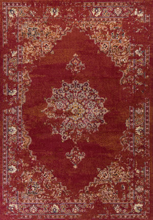 Kas Bob Mackie Home Vintage 1300 Burnt Red Area Rug