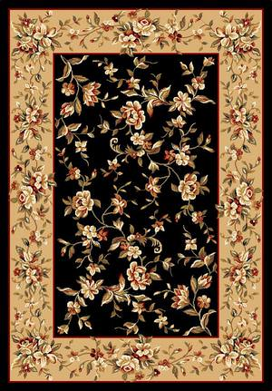 Kas Cambridge Floral Delight Black-Beige 7336 Area Rug