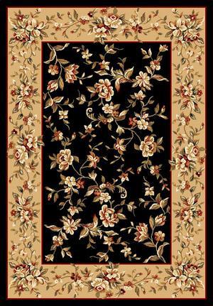Kas Cambridge Floral Delight Black-Beige 7336 Area Rug