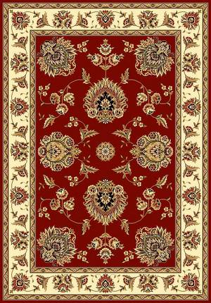 Kas Cambridge Floral Mahal Red-Ivory 7340 Area Rug