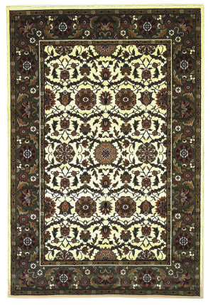 Kas Cambridge 7307 Ivory/Green Area Rug