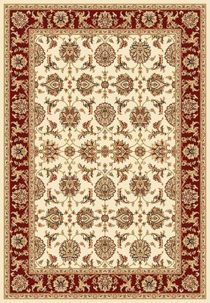 Kas Cambridge 7312 Ivory/Red Area Rug