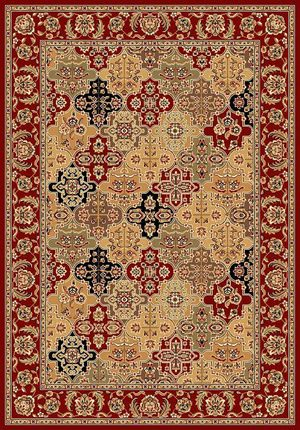 Kas Cambridge Kashan Panel 7325 Red Area Rug