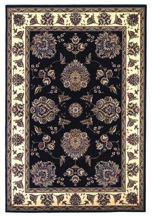 Kas Cambridge 7339 Black/Ivory Area Rug