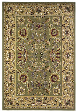 Kas Cambridge Kashan Green/Taupe 7304 Area Rug