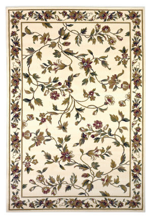 Kas Cambridge Floral Vine 7331 Ivory Area Rug