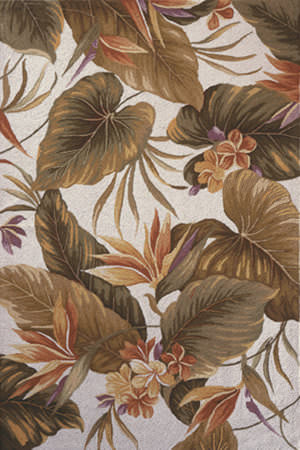 Kas Colonial Tropical Paradise Ivory 1737 Area Rug