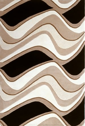 Kas Eternity Waves Black/Beige 1071 Area Rug