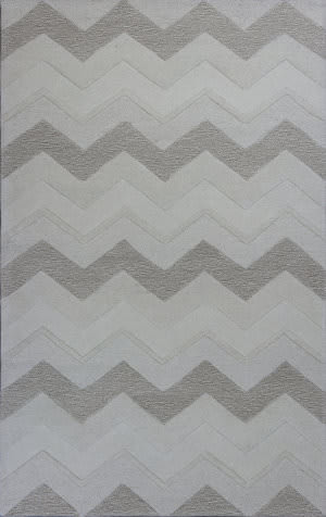 KAS Eternity 1077 Ivory Chevron Area Rug