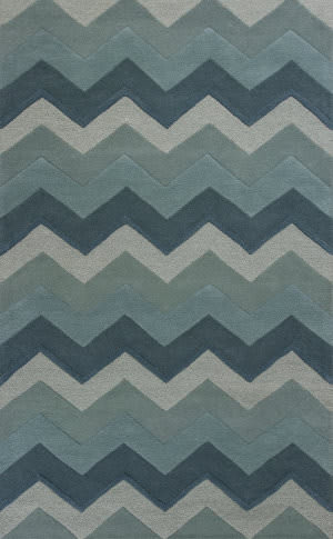 KAS Eternity 1078 Ocean Chevron Area Rug