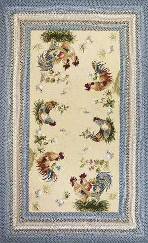 Kas Fairfax 5508 Ivory/Blue Area Rug