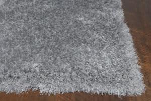 KAS Fina 552 Silver Silky Shag Area Rug