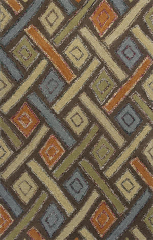 KAS Geo 4603 Mocha Windows Area Rug