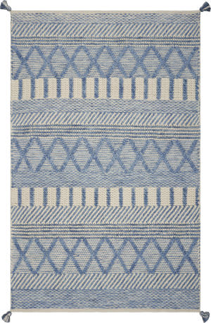 Kas Hang Ten Malibu 855 Denim Area Rug