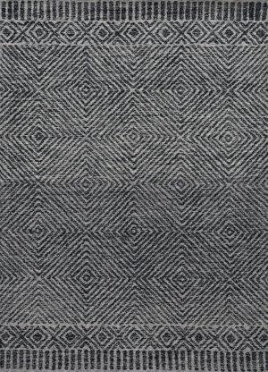 Kas Hudson 2463 Grey - Black Area Rug
