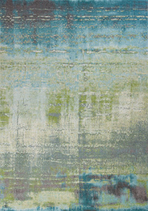Kas Illusions 6206 Blue - Green Area Rug
