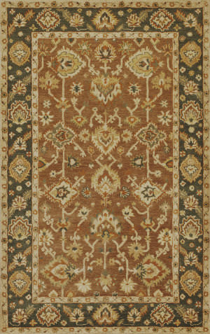 Kas Jaipur 3851 Coffee/Green Area Rug