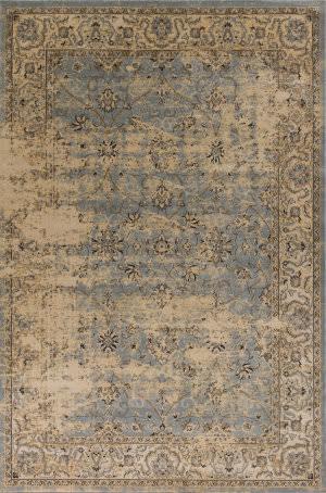 Kas Jasmine 3755 Blue-Ivory Area Rug