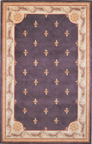 Kas Jewel 0312 Grape Area Rug