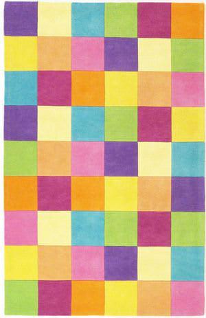 KAS Kidding Around Girls 420 Color Blocks Area Rug