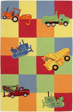 KAS Kidding Around Trucks Galore 424 Multi Area Rug