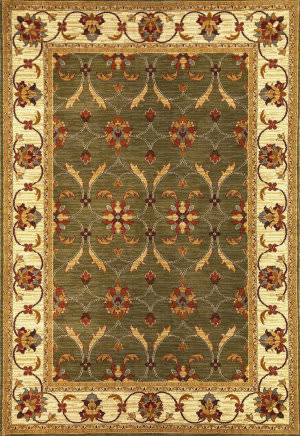 Kas Lifestyles 5470 Green/Ivory Area Rug