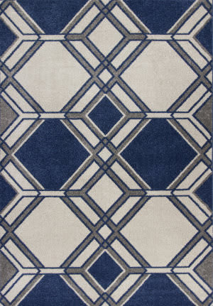 Kas Lucia 2768 Ivory - Denim Area Rug