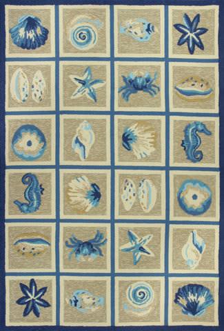 Kas Meridian 2528 Beige / Blue Area Rug
