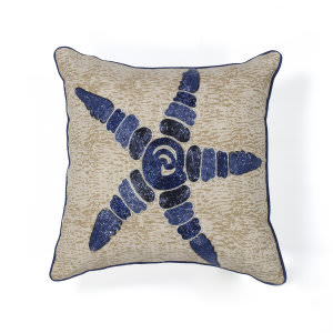 Kas Starfish Pillow L109 Natural - Blue