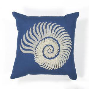 Kas Seashell Pillow L111 Blue - White